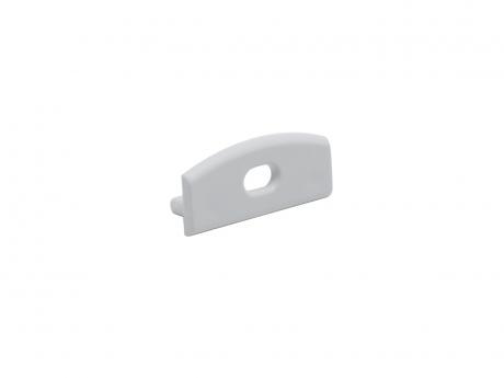 Endkappe LED Alu U-Profil Slim XL 8mm mit Kabeldurchgang Alu