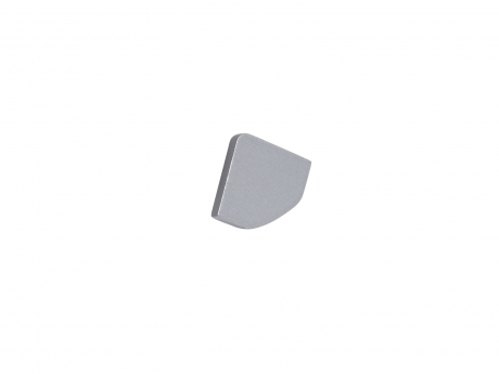 Endkappe LED Alu Profil 45-Grad, ohne Kabeldurchgang grau