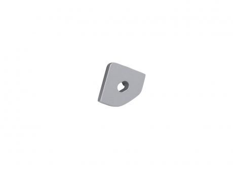 Endkappe LED Alu Profil 45-Grad mit Kabeldurchgang grau