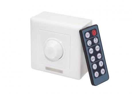 LED Dimmer IR 12-24Vdc 8A Wandcontroller + Fernbed