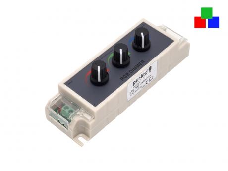 LED RGB Drehdimmer 12V-24Vdc 3x 3A