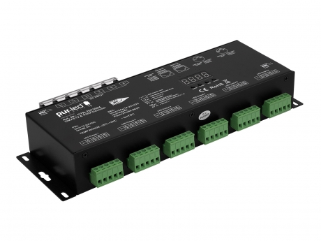 LED Dimmer RDM DMX512 12-24Vdc 24x4A