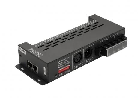 LED Dimmer DMX 5-24Vdc 8x6A