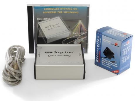 Stage Line DMX-510USB Controller / Konverter Box für den PC