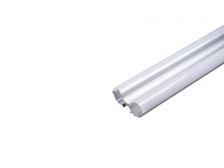 Alu Duoprofil für zwei LED Stripes silber mit Abdeckung opal