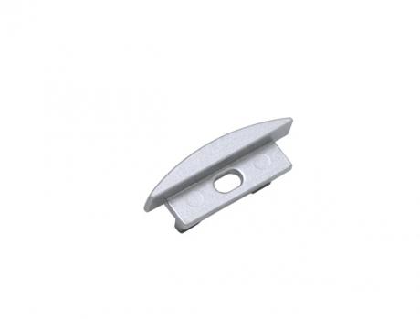 Endkappe LED Alu T-Profil Slim XL 8mm mit Kabeldurchgang Alu