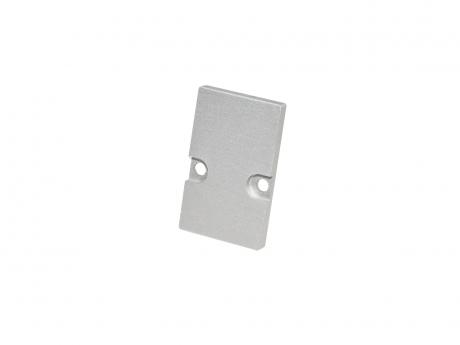 LED Endkappe LED Alu H-Montageprofil, Aluminium