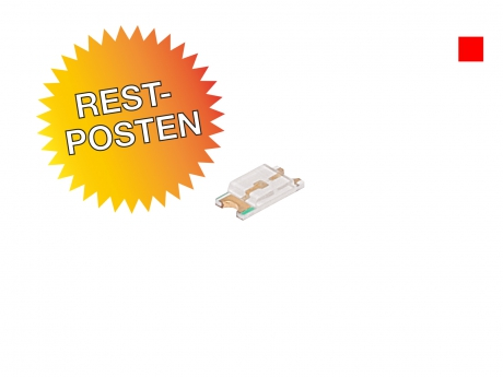 Restposten: rote SMD 1206 LED ultrahell 160mcd max.