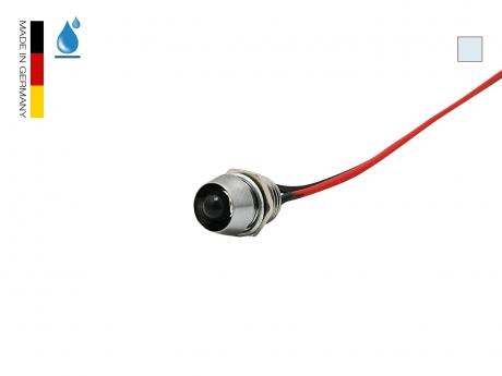 LED Schraube 12Vdc kaltweiß NICHIA 5mm Chromgehäuse IP67
