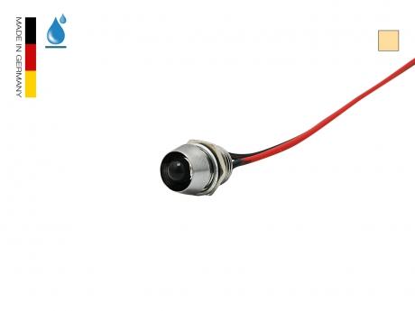 LED Schraube 12Vdc warmweiß 5mm Chromgehäuse wasserdicht IP67