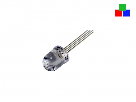 LED 10mm RGB klar 4-Pin gemeinsamer Pluspol