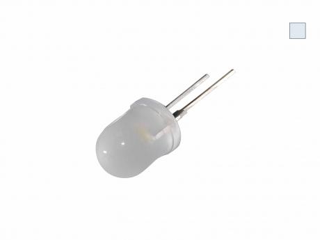 LED 10mm kaltweiß diffus 10 Lumen max. breiter Abstrahlwinkel