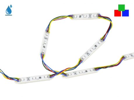 LED Modul RGB+ 12Vdc 0,8W 15lm 3LEDs IP65