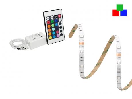 IR-SET 1: Easylight 3 SET + Netzt. + 12Vdc-RGB Stripe 30LEDs/m