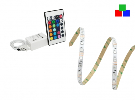 IR-SET 2: Easylight 3 SET + Netzt. + 12Vdc-RGB Stripe 60LEDs/m