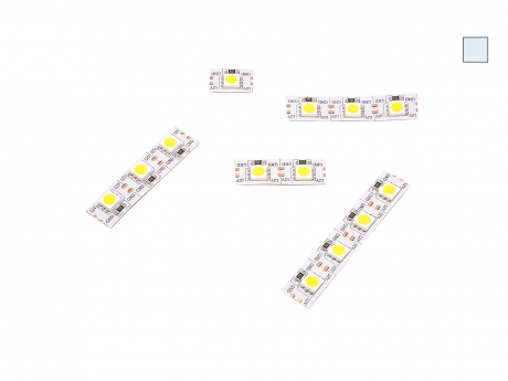 14mm LED Stripe kaltweiß 12Vdc 15W/m 430lm/m 72LEDs/m Single Cut