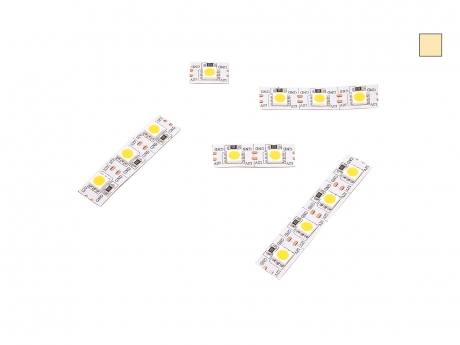 14mm LED Stripe warmweiß 12Vdc 15W/m 430lm/m 72LEDs/m Single Cut