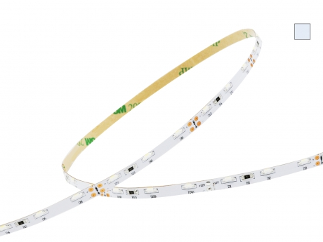 1m LED Stripe kaltweiß 12Vdc 6,6W/m 550lm/m 60LEDs/m 1C Sideview