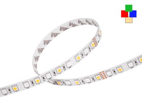 LED Stripe RGB-WW 24Vdc 14W/m 715lm/m 72LEDs/m 4-Kanal