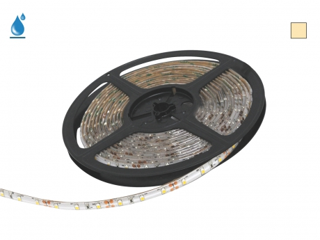 5m LED Stripe warmweiß 12Vdc 4,0W/m 400lm/m 60LEDs/m IP54