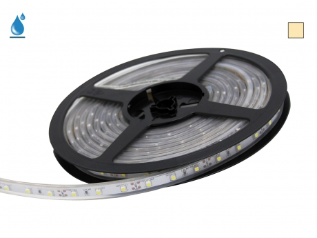 LED Stripe warmweiß 12Vdc 4W/m 330lm/m 60LEDs/m IP67 5,0m
