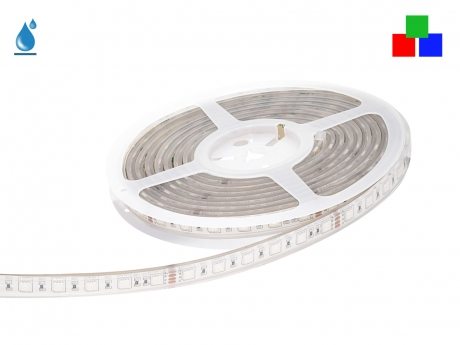 5m LED Stripe RGB 24Vdc 14,4W/m 200lm/m 60LEDs/m IP67