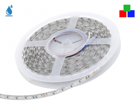 5m LED Stripe RGB 24Vdc 17W/m 180lm/m 72LEDs/m IP54