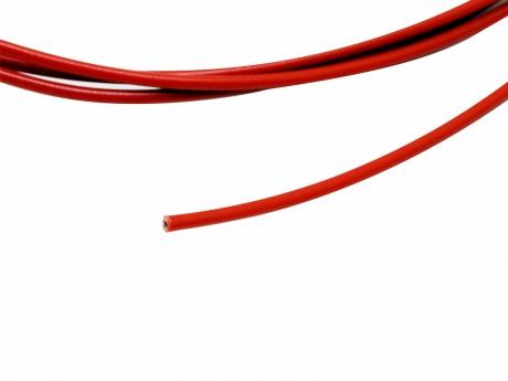 1m Einzellitze / -ader / -draht rot 0,5mm² verzinnt