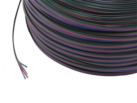1m 4x 0,25mm² RGB Leitung vieradrig