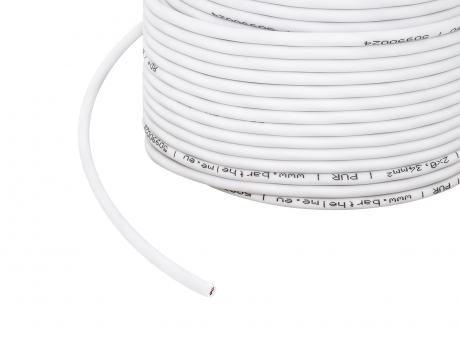 1m 2x 0,34mm² 2-poliges Kabel weiß PVC Outdoor