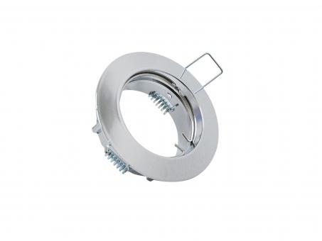 MR16 / GU10 Einbaufassung Decke für LED-Spots 50mm -chrom-