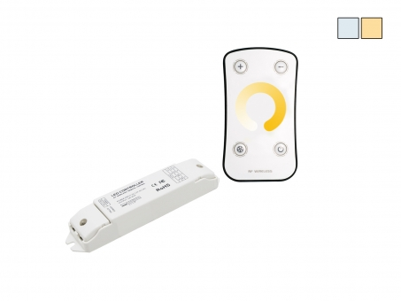 Easylight Funk Set CCT: 12/24Vdc 2x3A Controller + Fernbed.
