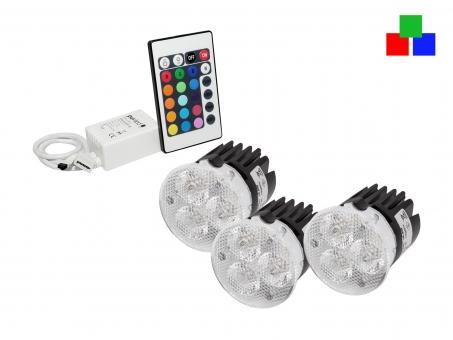 RGB Spots Infrarot-SET: Easylight 3-SET + Netzteil 2 RGB-Spots