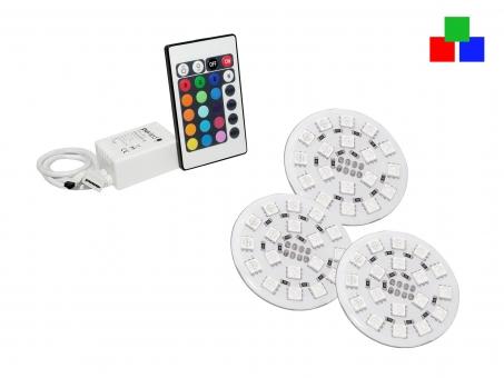 PUR-LED® Easylight RGB Platinen-Set Infrarot 4 RGB-Platinen 4 RGB-Platinen