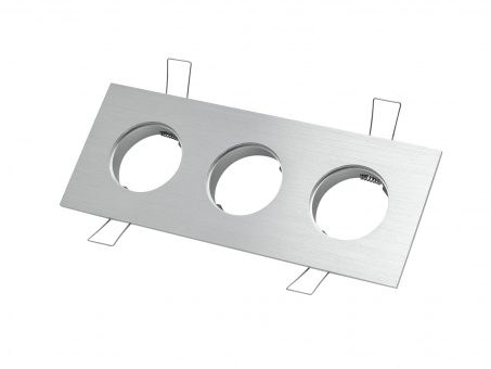 3-fach Einbaurahmen eckig für Cursa 2.5W -Aluminium-