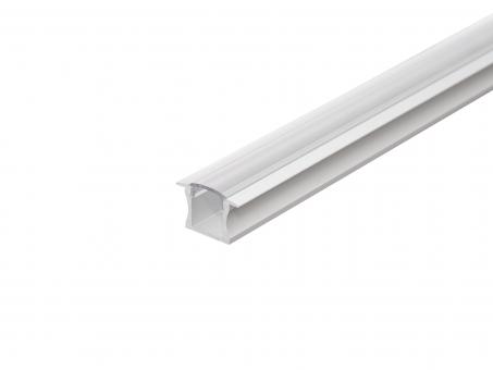 LED Alu T-Profil Slim 15mm silber mit Abdeck 1,0m opalweiß opalweiß | 1,0m