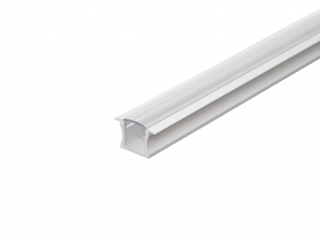 LED Alu T-Profil Slim 15mm silber mit Abdeck 3,0m transparent transparent | 3,0m