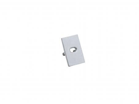 Endkappe U-Aluminiumprofil Slim XS mit Kabeldurchgang Alu