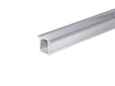 LED Alu T-Profil Slim XL 28mm silber mit Abdeckung 2,0m transpare transparent | 2,0m
