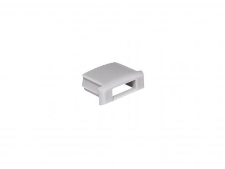 Endkappe für LED Alu-Profil AL-PU1 grau mit Kabeldurchgang