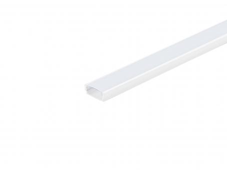 LED Alu U-Profil AL-PU1 6mm weiß mit Abdeckung transparent 1,0m transparent | 1,0m