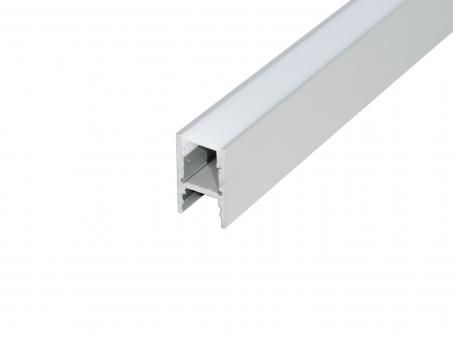 Alu H-Profil 30mm XXLineHigh silber mit Abd 2m (bis 5m am Stück)