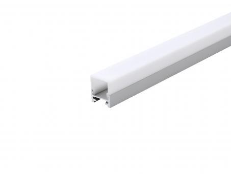 LED Alu Profil XXLine Define silber mit Abdeck 1,0m flach transp flach transp | 1,0m