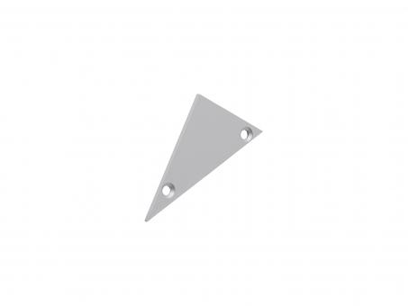 Endkappe für Alu-Voutenprofil XXLine links ohne Kabeldurchg grau grau