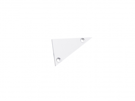 Endkappe rechts Alu-Voutenprofil XXLine ohne Kabeldurchg weiß weiß