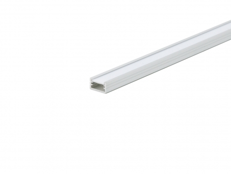 LED Alu U-Profil AL-PU2 7mm mit Abdeckung 1,0m silber silber | 1,0m