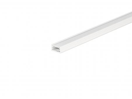 LED Alu U-Profil AL-PU2 7mm mit Abdeckung 1,0m weiß weiß | 1,0m