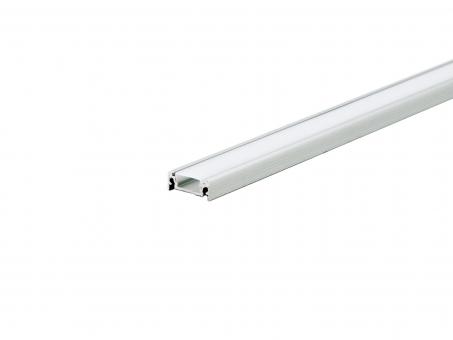 LED Alu U-Profil AL-PU4 silber mit Abdeckung 2,0m 2,0m