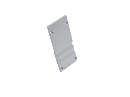 Endkappe LED Alu U-Profil High ohne Kabeldurchg Alu