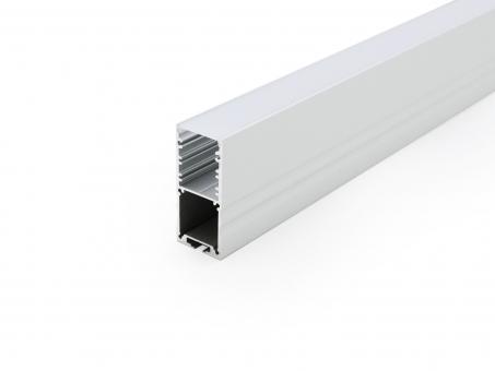LED Alu U-Profil High 30mm silber mit Abdeckung 1,0m opalweiß opalweiß | 1,0m